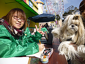 photo:ワンちゃんと一緒に楽しむ遊園地♪