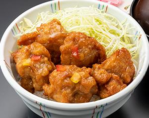 油淋鶏丼(味噌汁・漬物付)