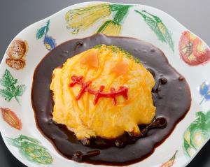 ダブルチーズ オムライス